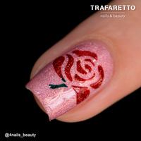 Трафарет для дизайна ногтей Trafaretto. Цветочный микс