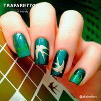 Трафарет для дизайна ногтей Trafaretto. Времена года. Весна