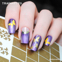 Трафарет для дизайна ногтей Trafaretto. Бабочки, стрекозки