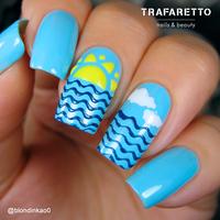 Трафарет для дизайна ногтей Trafaretto. Времена года. Лето