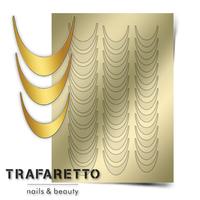 Металлизированные наклейки TRAFARETTO. Арт. CL-02, Золото