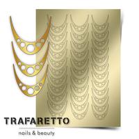 Металлизированные наклейки TRAFARETTO. Арт. CL-05, Золото
