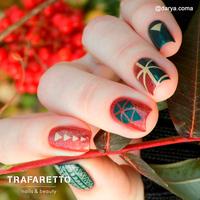 Трафарет для дизайна ногтей Trafaretto. Геометрия. Треугольники.