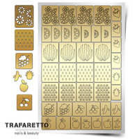 Трафарет для дизайна ногтей Trafaretto. Фруктовый сад
