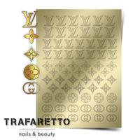 Металлизированные наклейки TRAFARETTO. Арт. Fsh-02, Золото