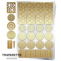 Трафарет для дизайна ногтей Trafaretto. Геометрия. Круги
