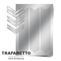 Металлизированные наклейки TRAFARETTO. Арт. GM-07, Серебро