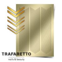 Металлизированные наклейки TRAFARETTO. Арт. GM-07, Золото