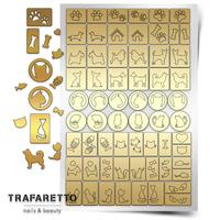 Трафарет для дизайна ногтей PrimaNails. Кошки против собак