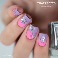 Трафарет для дизайна ногтей Trafaretto. Снежинки