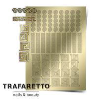 Металлизированные наклейки TRAFARETTO. Арт. OR-03, Золото