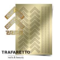 Металлизированные наклейки TRAFARETTO. Арт. OR-05, Золото