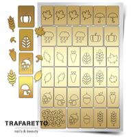 Трафарет для дизайна ногтей PrimaNails. Осень