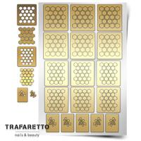 Трафарет для ногтей PrimaNails.NEW SIZE Пчелиные соты