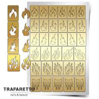 Трафарет для дизайна ногтей PrimaNails. Пламя