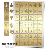 Трафарет для дизайна ногтей PrimaNails. Пляж