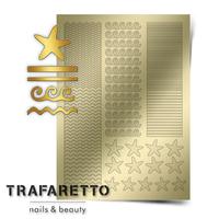 Металлизированные наклейки TRAFARETTO. Арт. Sea-03, Золото