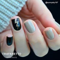 Трафарет для дизайна ногтей Trafaretto. Волны и молнии