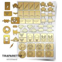 Трафарет для дизайна ногтей PrimaNails. Супергерои