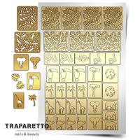 Трафарет для дизайна ногтей PrimaNails. Тропики
