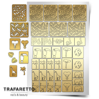 Трафарет для дизайна ногтей Trafaretto. Тропики