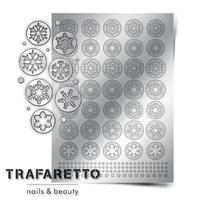 Металлизированные наклейки TRAFARETTO. Арт. W-01, Серебро