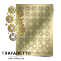 Металлизированные наклейки TRAFARETTO. Арт. W-01, Золото