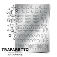 Металлизированные наклейки TRAFARETTO. Арт. W-02, Серебро