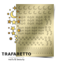 Металлизированные наклейки TRAFARETTO. Арт. W-02, Золото