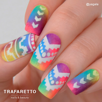 Трафарет для дизайна ногтей Trafaretto. Ацтеки и майя-2